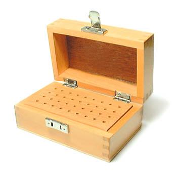 Organize burs in this handy wooden box 151.0375
