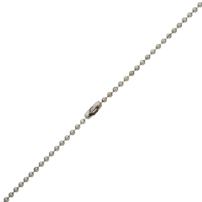 Neckchain Bead Stainless Steel 2.40mm
