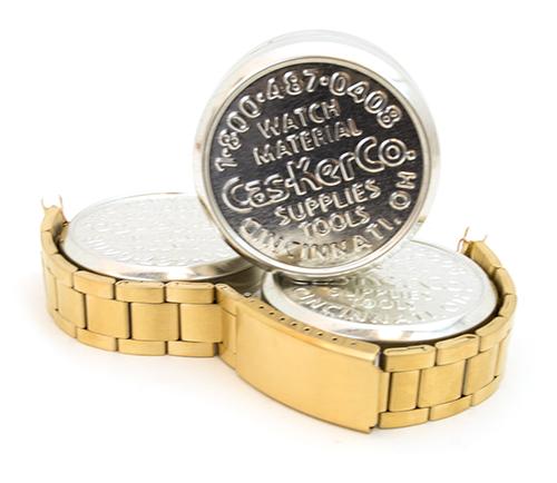 Yellow SS Link Bracelet 42-3978G from Cas-Ker