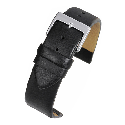 Black Leather Watch Strap W100