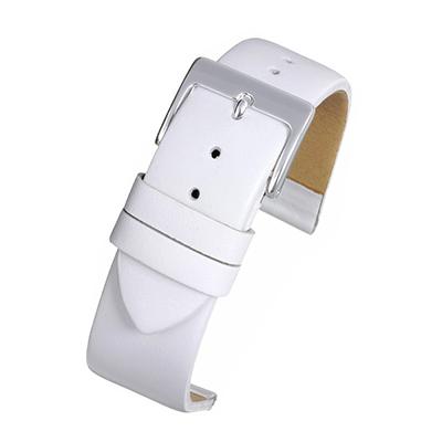White Leather Watch Strap W104