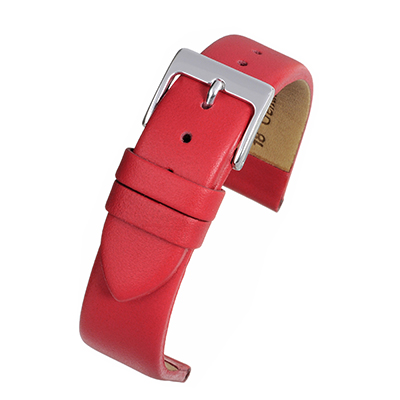 Red Leather Watch Strap W107