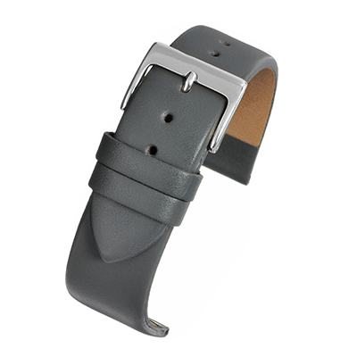 Grey Leather Watch Strap W108
