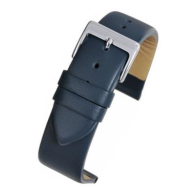 Dark Blue Leather Watch Strap W111