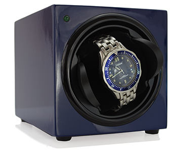 Sleek Watch Winder - Blue Gloss