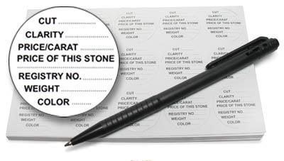 Gem Jar Labels & Pen