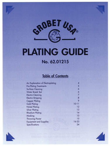 Jewelry Plating Guide by Grobet USA - Book