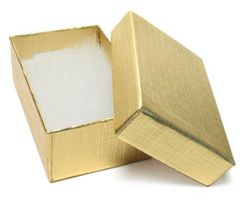 Cas-Ker Gold Foil Jeweler's Box