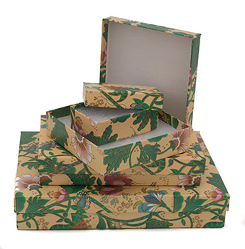 Cas-Ker Tropical Print Jewelry Gift Box