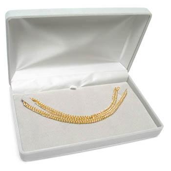 Cas-Ker Nylon Flock Jeweler's Gift Box