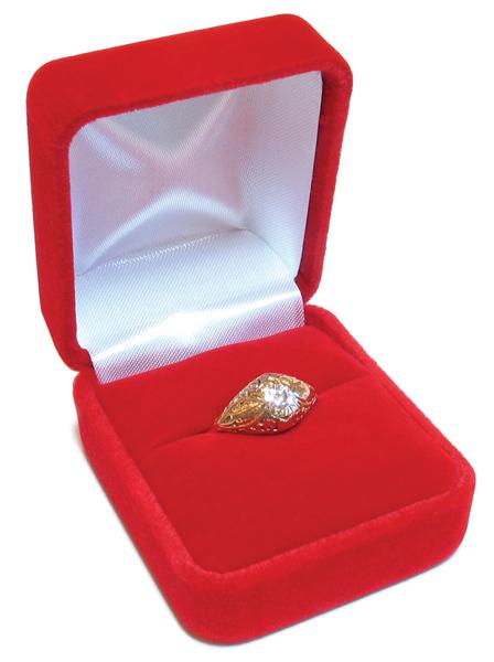 Cas-Ker Velvet Jeweler's Gift Box