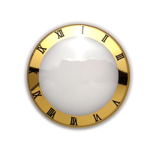 XII Gold Trim Black Roman Crystal