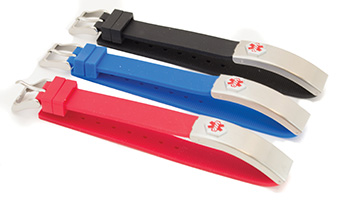 Medical Alert Straps, Rubber