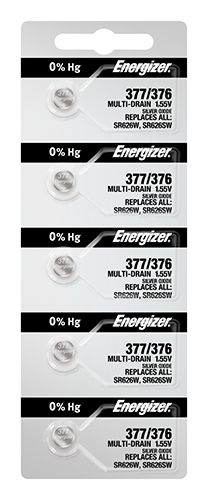 Energizer 377 Watch Batteries 5-pack