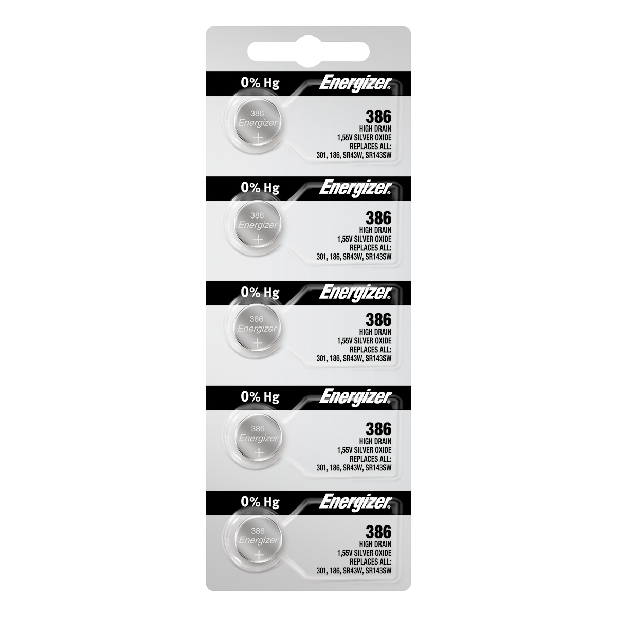 Energizer 386 Batteries 5-pack