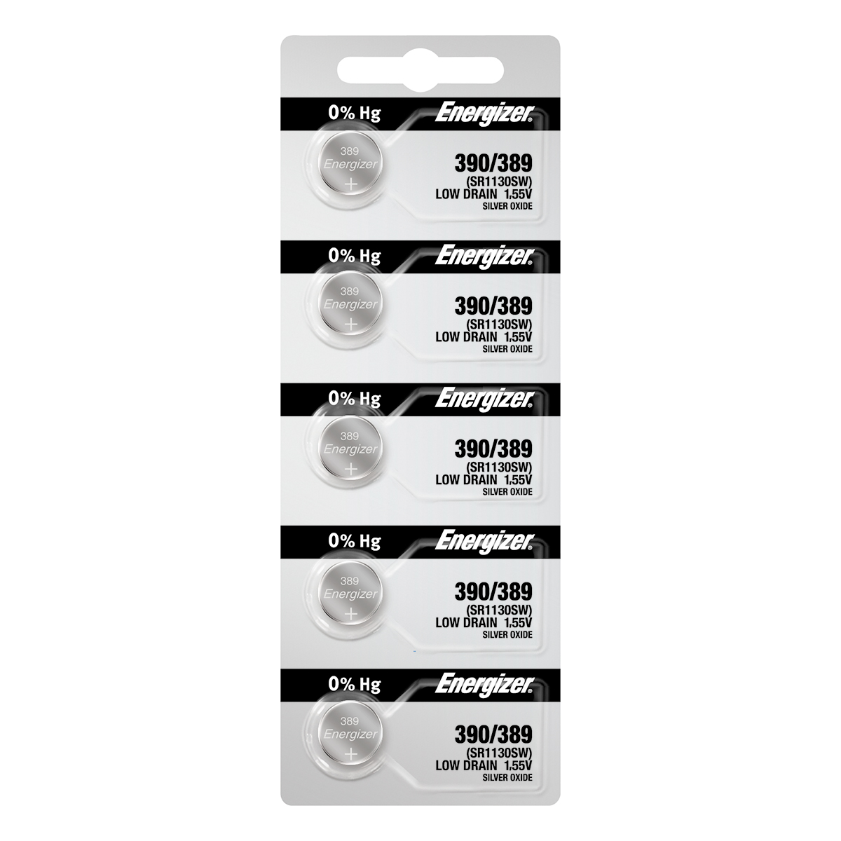 Energizer 390 Watch Battery 5-pack