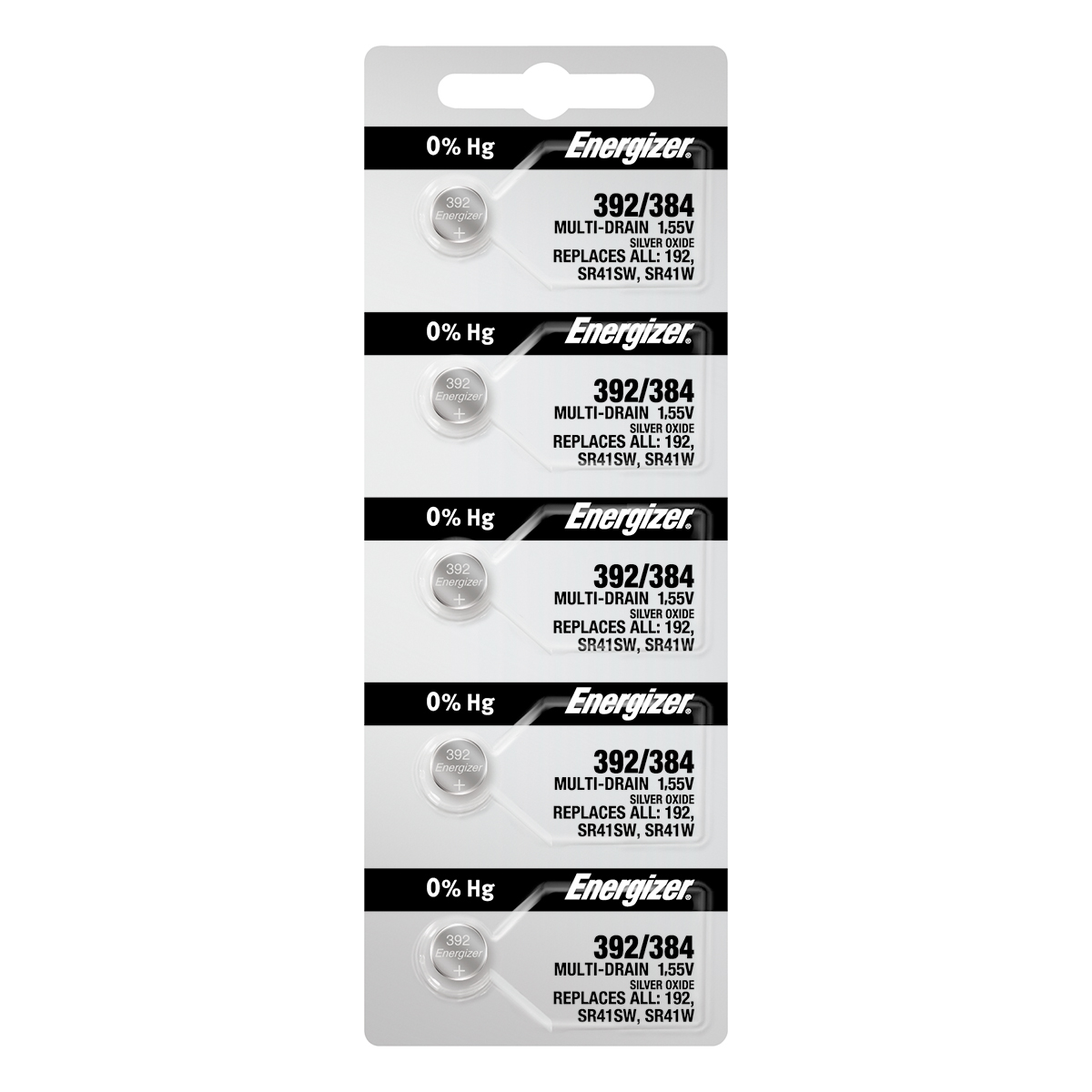 Energizer 392 Watch Batteries 5-pack