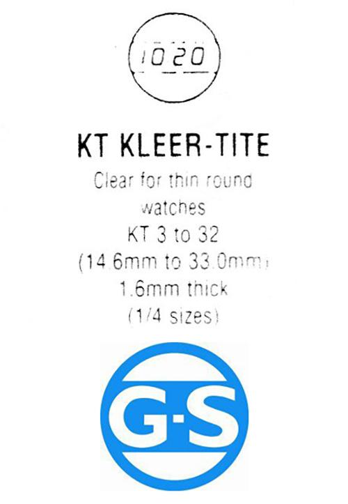 G-S KT  Plastic Watch Crystal