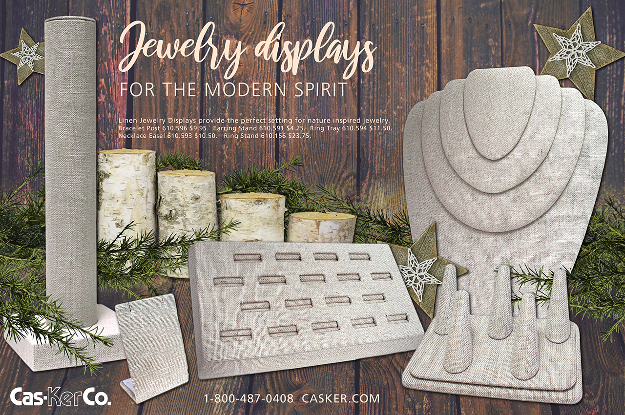 Linen Jewelry Displays from Cas-Ker