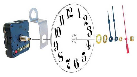 Clock Movement Assembly Illustration
