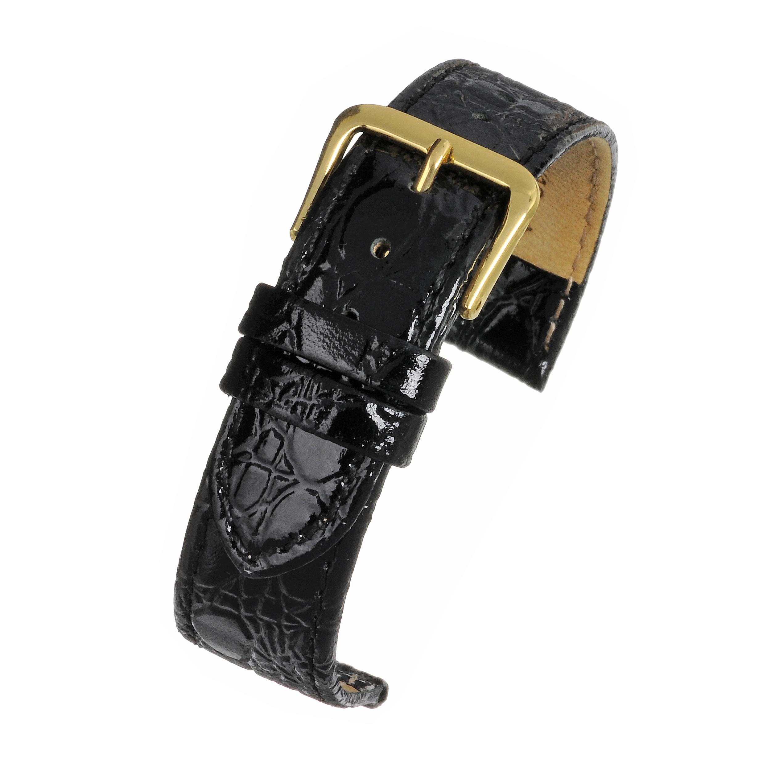 Budget Croc Watch Strap R618S Black