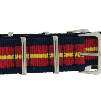 NATO Red/Blue/Yellow Strap Band WB-3645