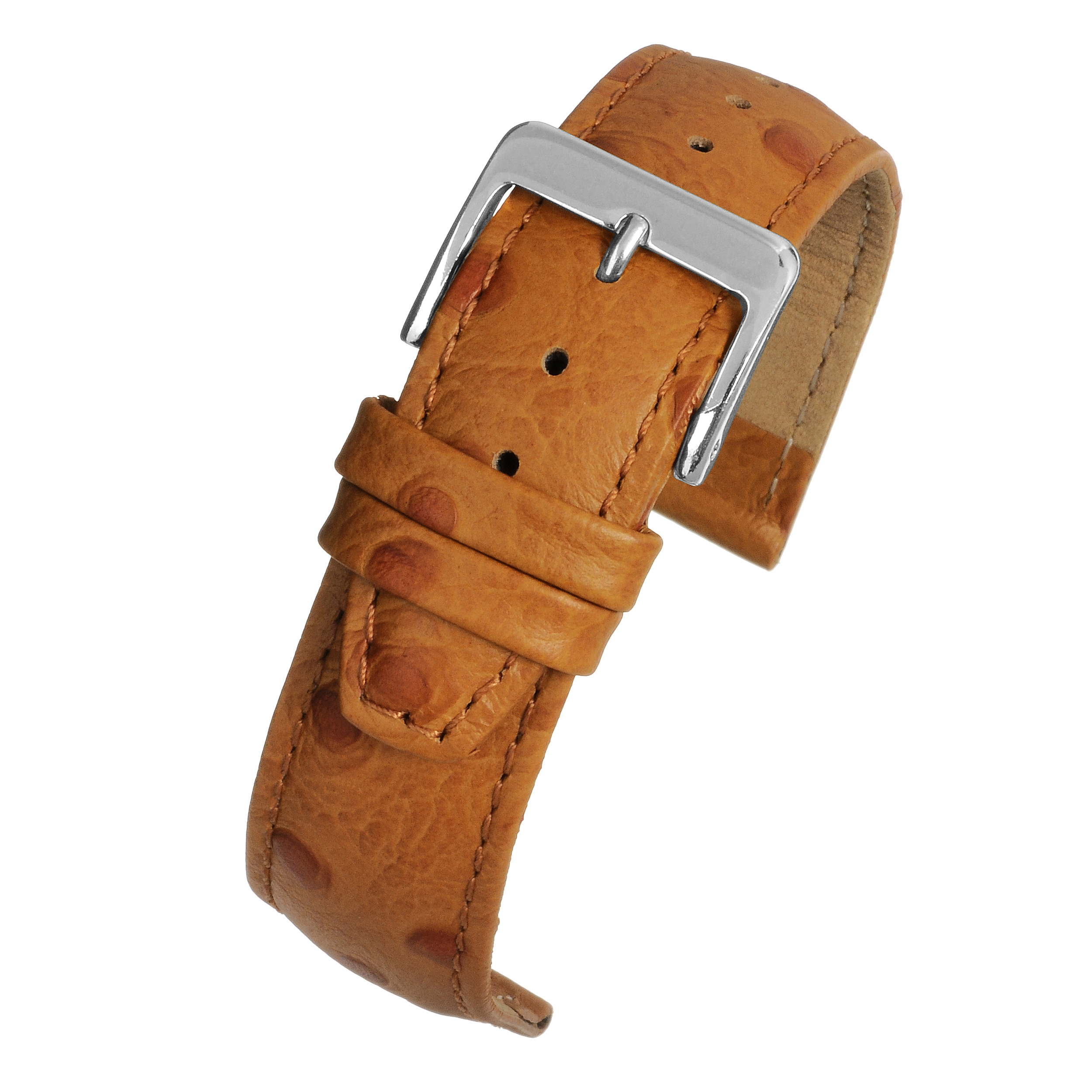 Tan Ostrich Watch Band WH101