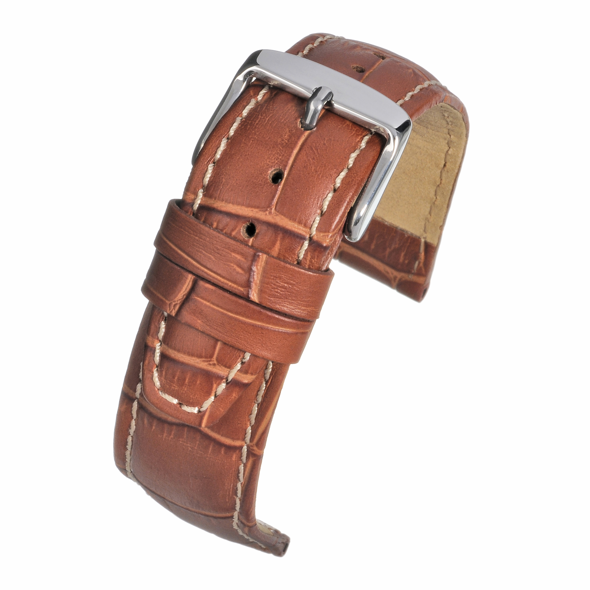 Alligator Grain Tan Watchstrap WH601