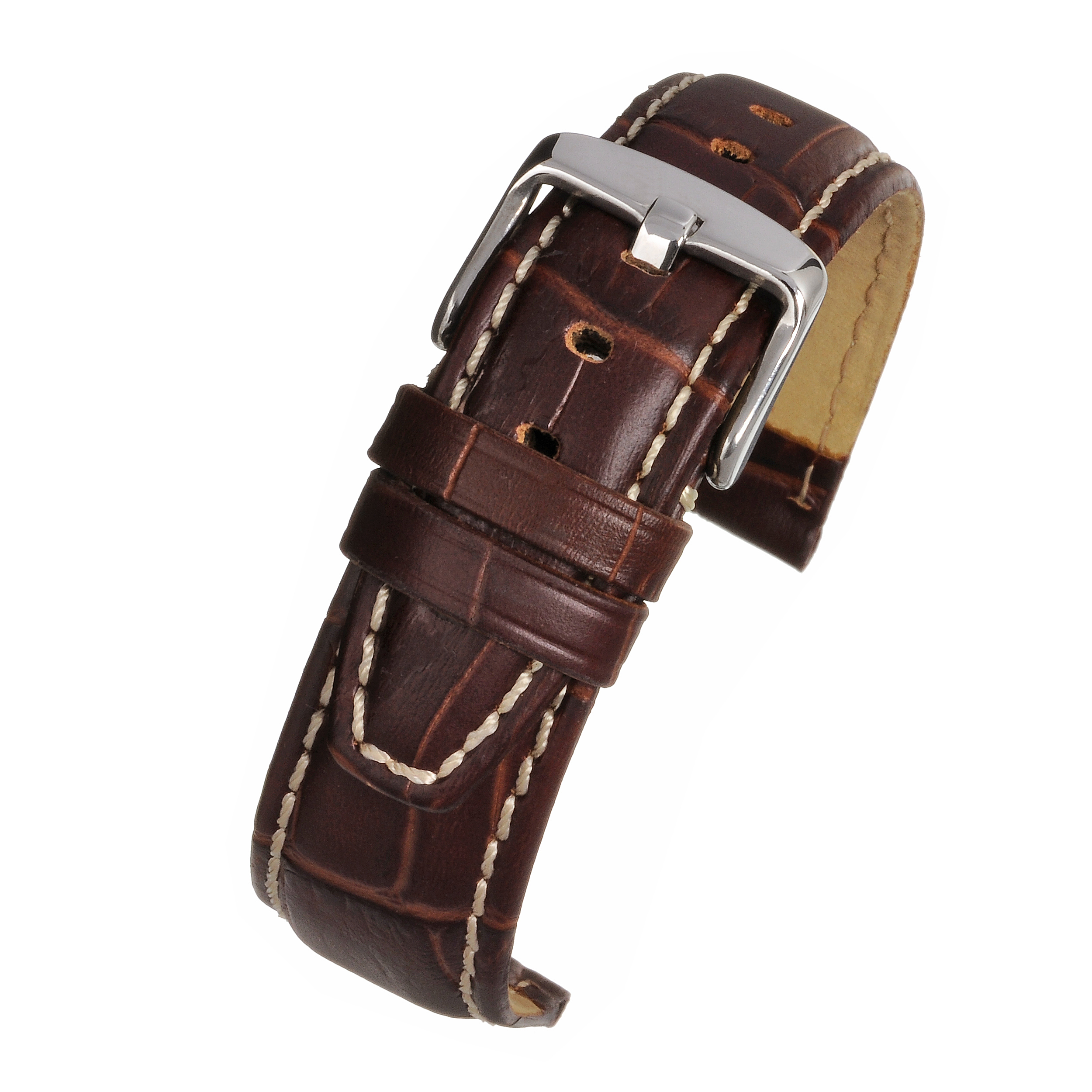 Brown Gator Grain Watchstrap WH605