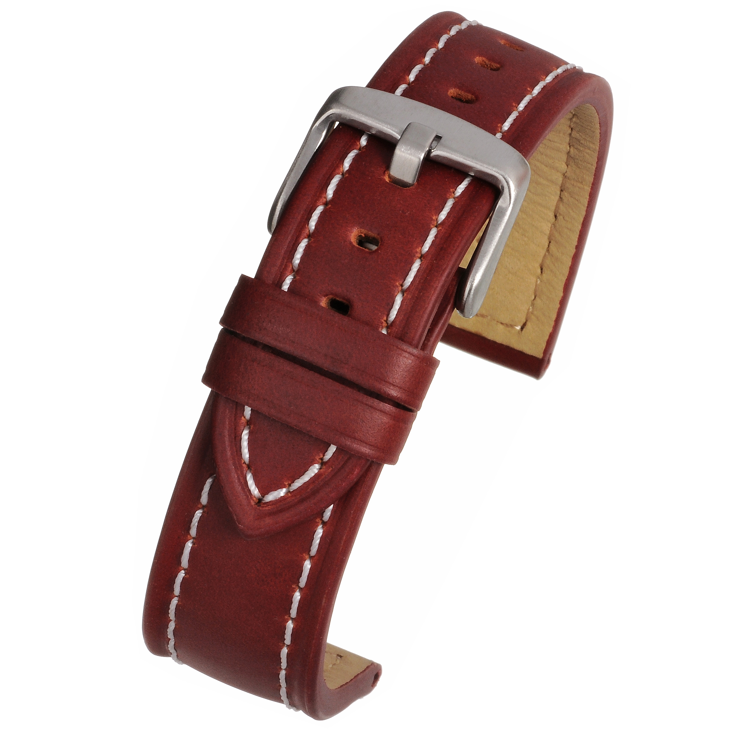 Stitched Leather Watch Strap WH811