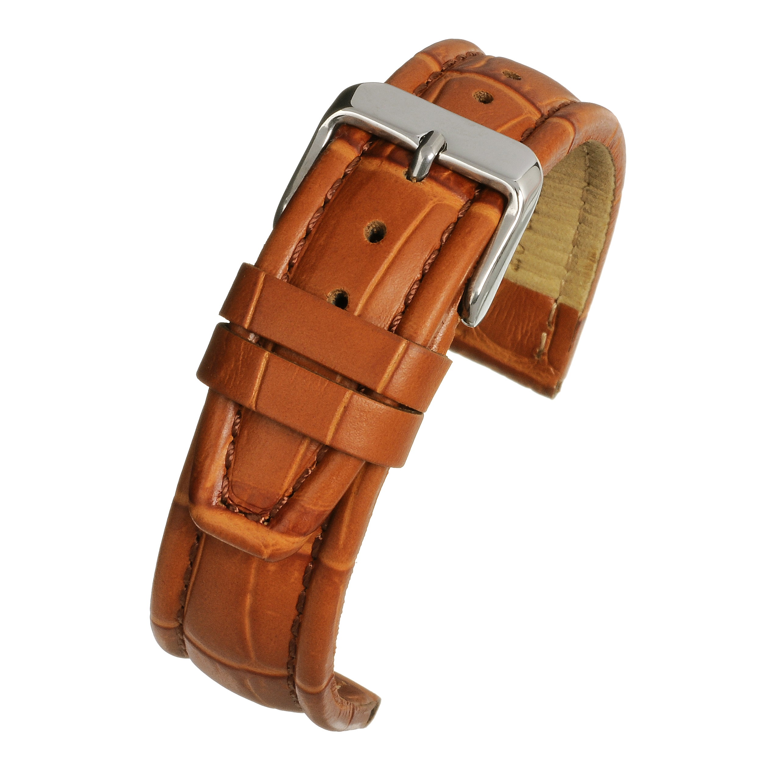 Tan Padded Croc Watchstrap WH887