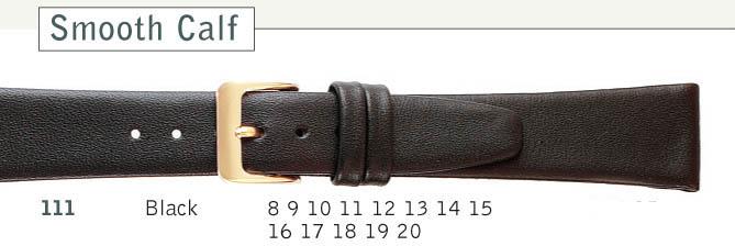 Black Leather Watch Strap | Cas-Ker Co.