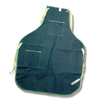 Denim apron for jewelers and watchmakers 170.847