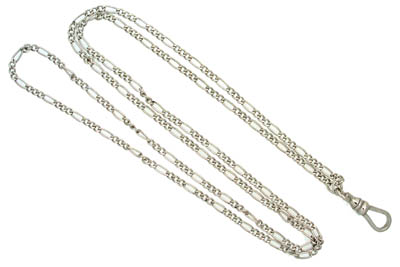 Pendant Watch Chain Figaro Sterling