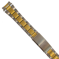 Metal Link Two-Tone Watch Bracelet