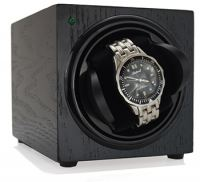 Sleek Watch Winder - Black Woodgrain