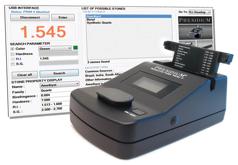 Gemstone Identifier Presidium Refractive Index Meter II