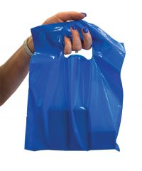 Blue Plastic Shoppers Bag