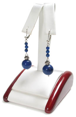 Rosewood & Faux Leather Earring Tree