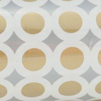 Gift Wrap - Gold and White Circles