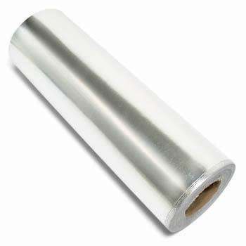 Gift Wrap - Silver Foil Metallic