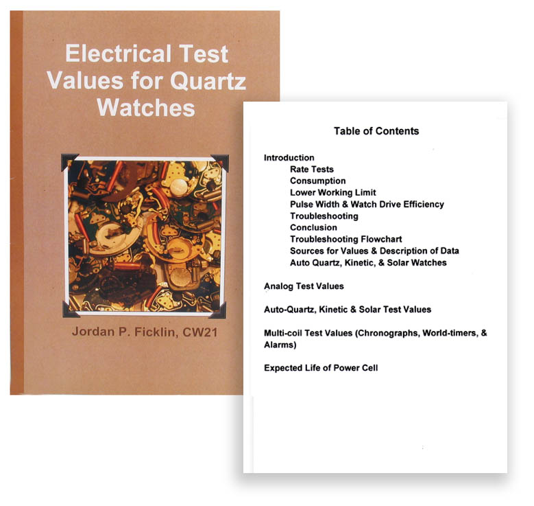 Electrical Test Values for Quartz Watches