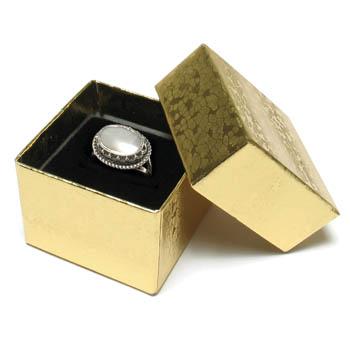 Cas-Ker Gold Foil Ring Box