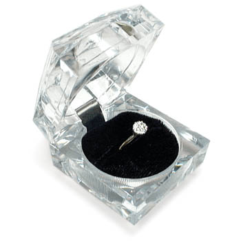 Cas-Ker Crystal Clear Jeweler's Gift Box