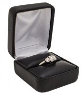 Black Leatherette Ring Box from Cas-Ker