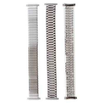 White Watchbands Metal Stretch Assortment Men's