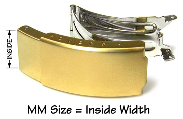 Yellow trifold buckle with extender