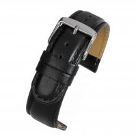Watch Strap Padded Leather Black W100P