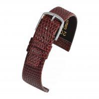 Watch Strap Burgundy Lizard W402
