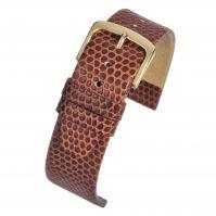 Light Brown Lizard Watch Strap W405